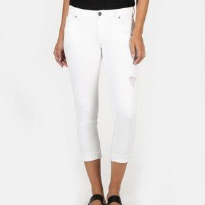 Kut From the Kloth Amy Crop White Straight Leg 10